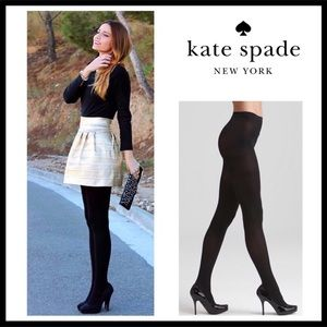 KATE SPADE LUXE BLACK TIGHTS A3C